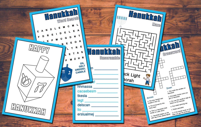 Kids Hanukkah Printable Games