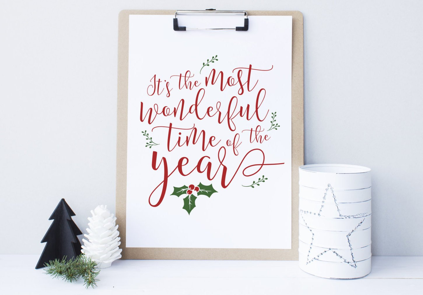 Printable Christmas Decor, It's the most wonderful time of the year