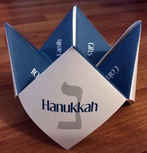 Kids Hanukkah Cootie Catcher