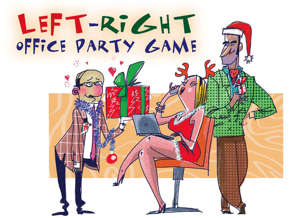 Left Right Office Party Printable Christmas Game