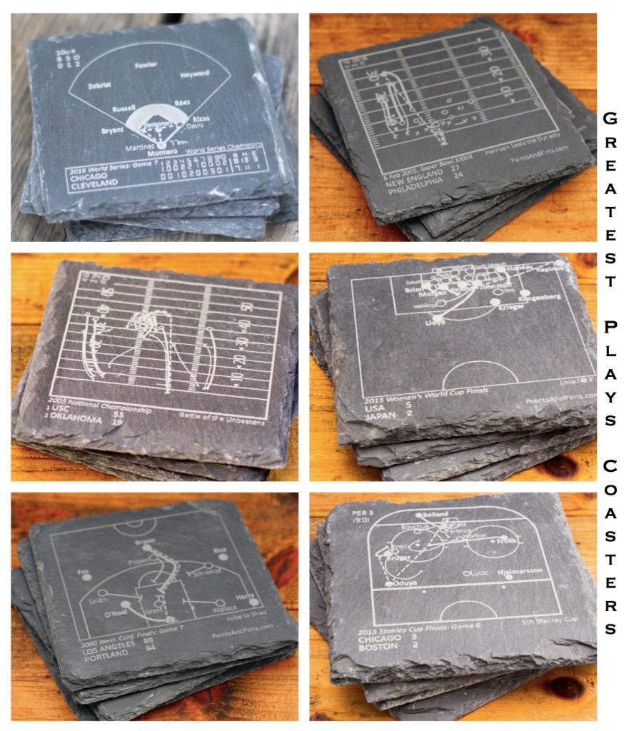 Sports Team Greatest Plays Coasters