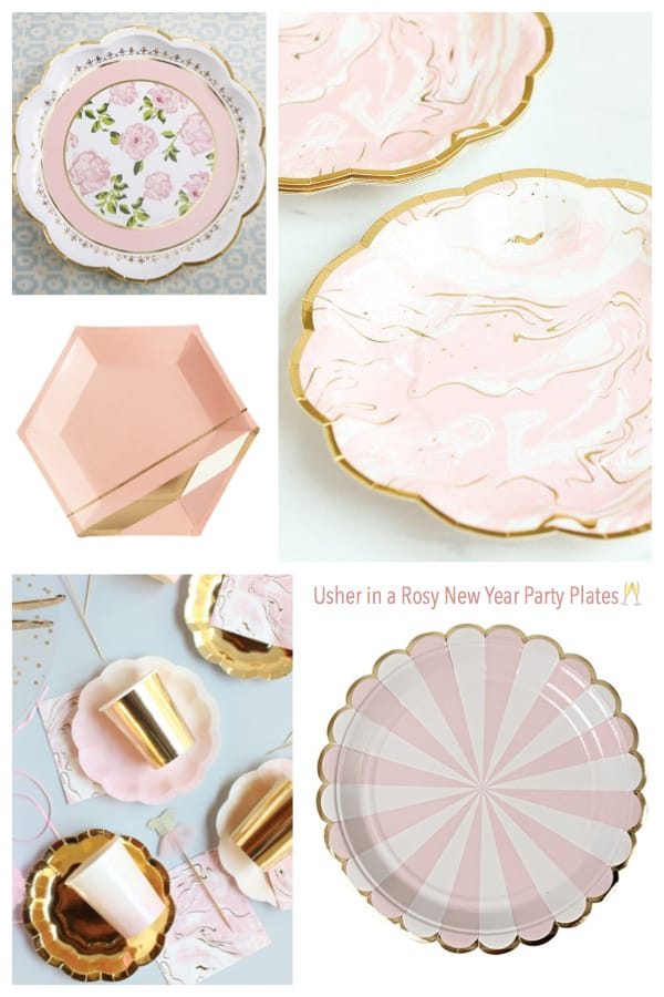 Usher in a Rosy New Year Party Plates