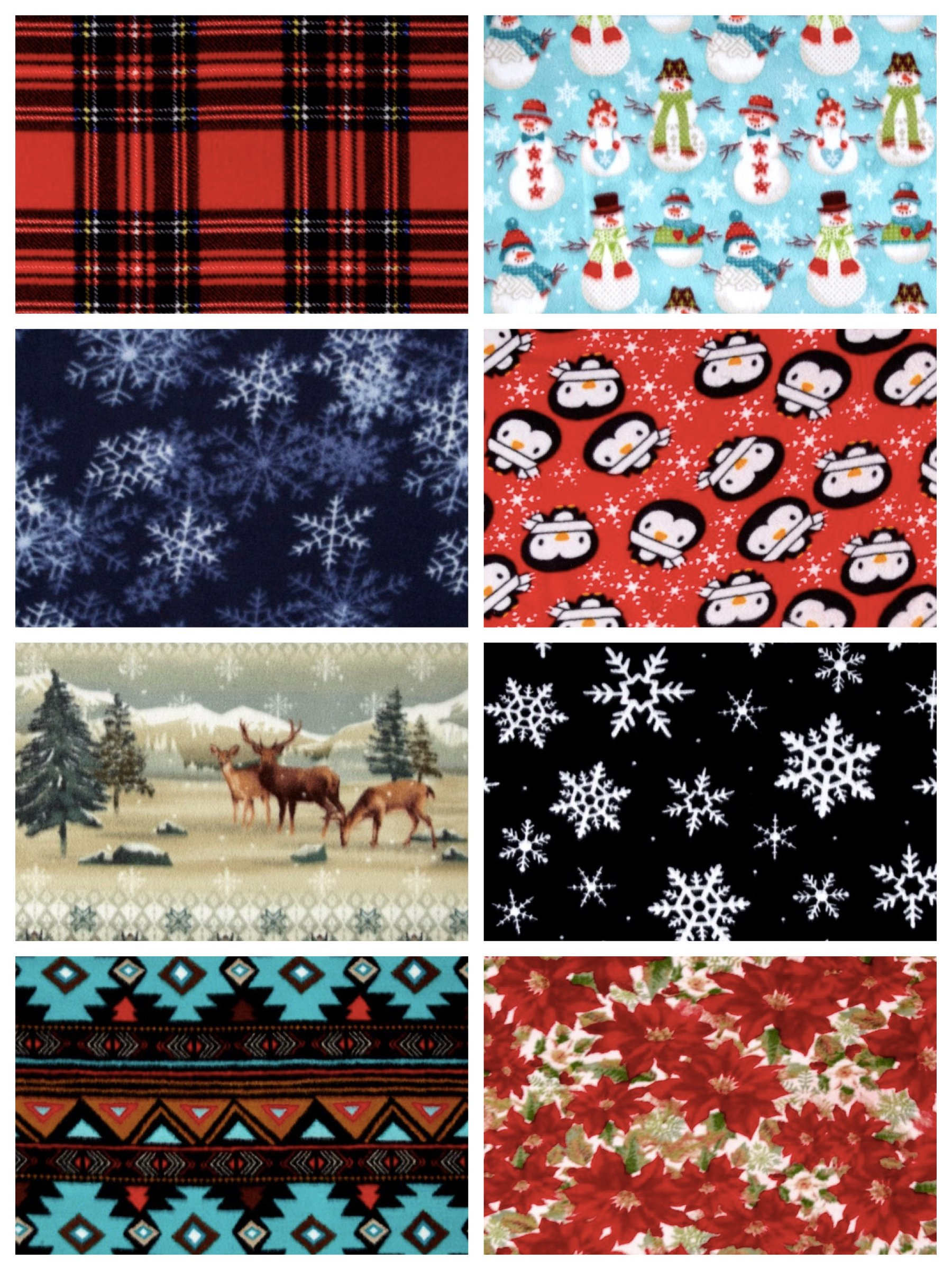 Winter Fleece Fabric for No Sew Blankets, family holiday craft project