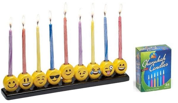 emoji menorah-set