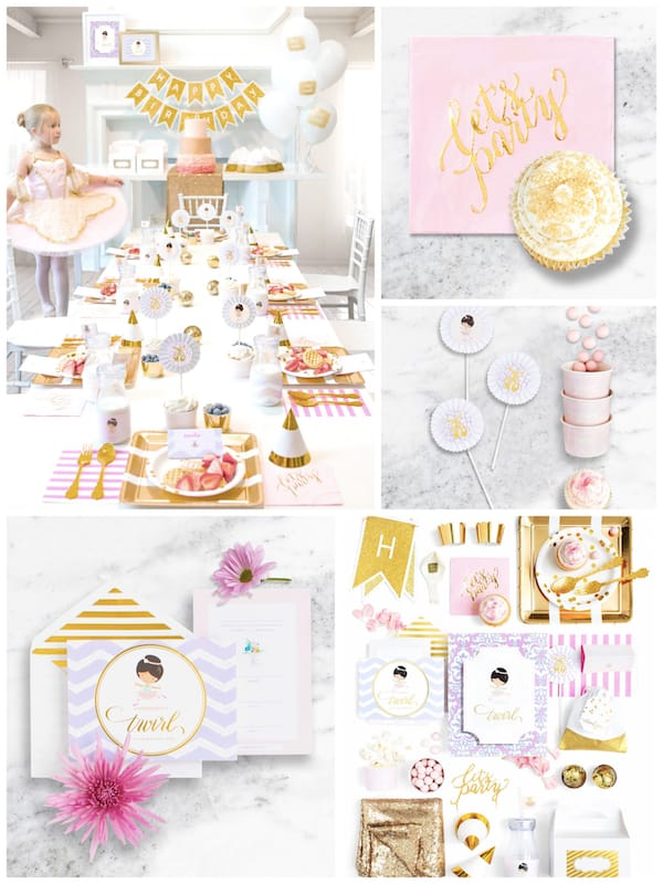 Ballerina Birthday Party and Baby Shower Supplies in a Box