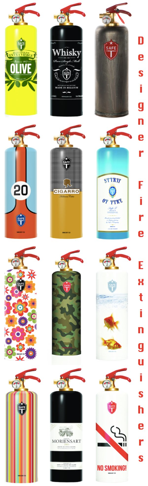 Designer Fire Extinguishers