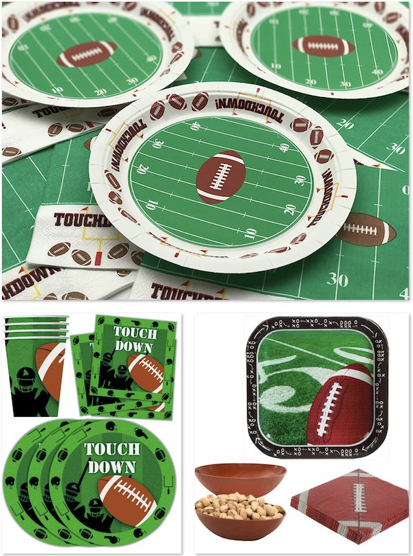 Football Party Supplies and Paper Goods