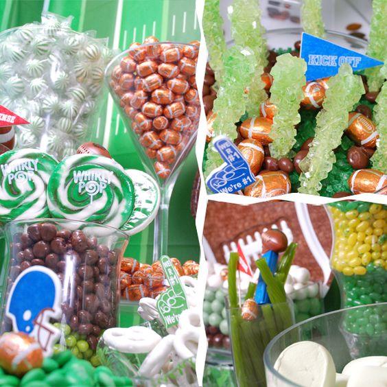 Football Theme Candy Buffet