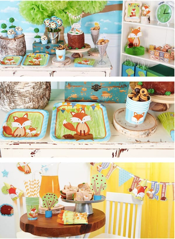 Forest Fox Party Supplies
