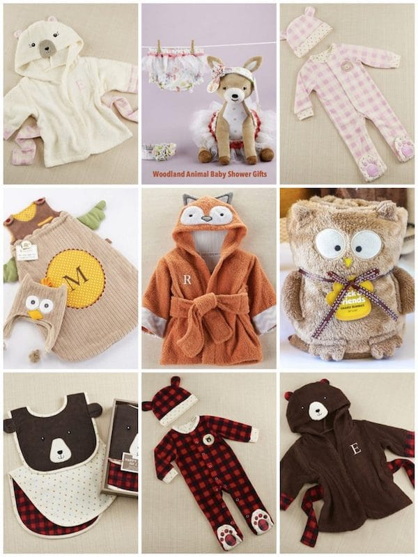 Woodland Animal Baby Shower Gifts