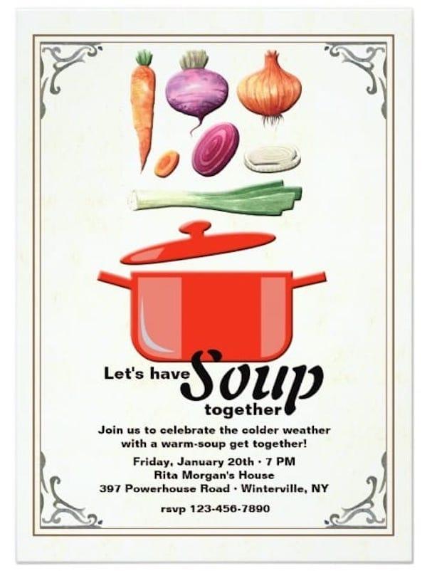 Let's Make Soup Invitation