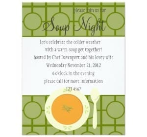 Invitations for Soup Night