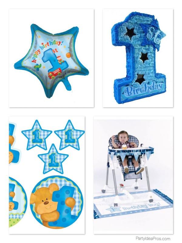 1st Birthday Star Theme Supplies