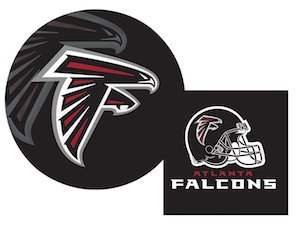 Atlanta Falcons NFL Napkins and Plates Party Kit