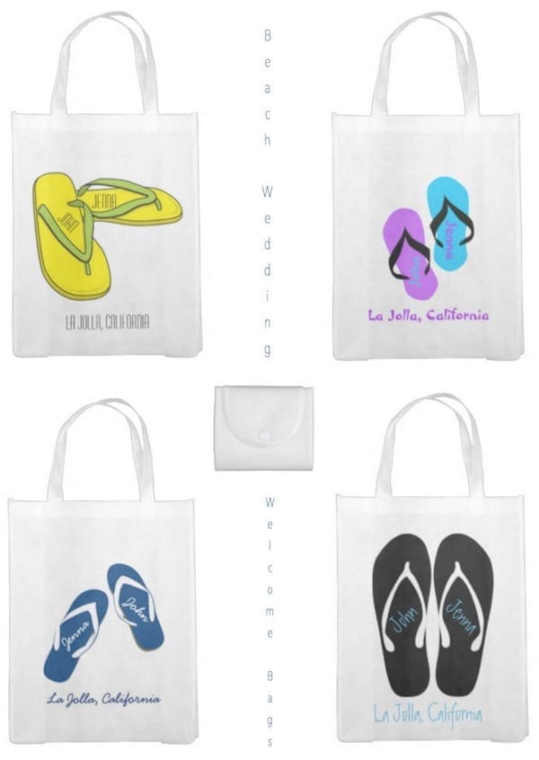 Beach Wedding Welcome Bags Flip Flops