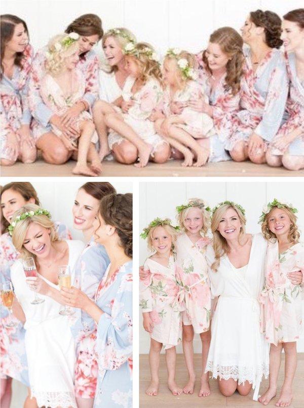 Bridal Party Matching Kimono Robes