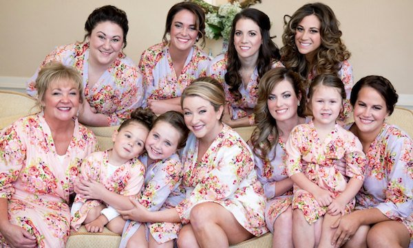 Bridal Party Matching Kimono Style Robes