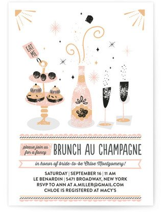 Brunch Au Champagne Bridal Shower Invitations