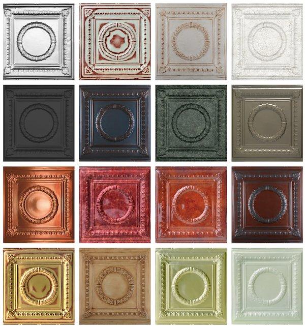 Romanesque Aluminum Ceiling Tiles, Decorative Tin Ceiling Tile Chargers