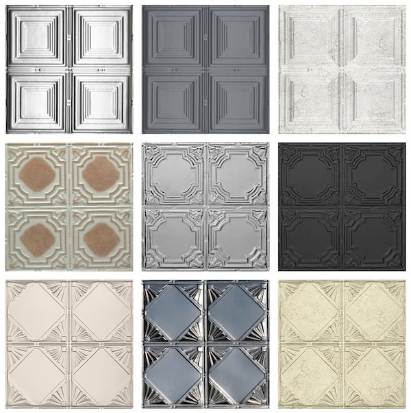 Decorative Ceiling Tiles with Quad Pattern