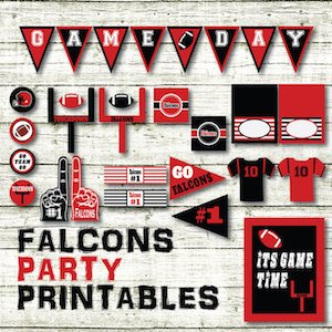 Falcons Party Printables