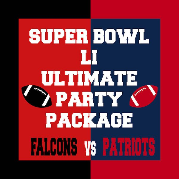 Falcons vs Patriots Super Bowl Party Printables