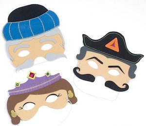 Foam Purim Masks