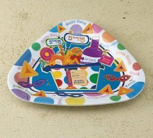 Happy Purim Plates