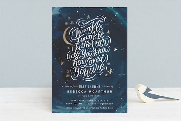 How Loved You Are Foil-Pressed Baby Shower Invitation