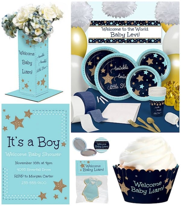 Light Blue Twinkle Twinkle Little Star Party Supplies