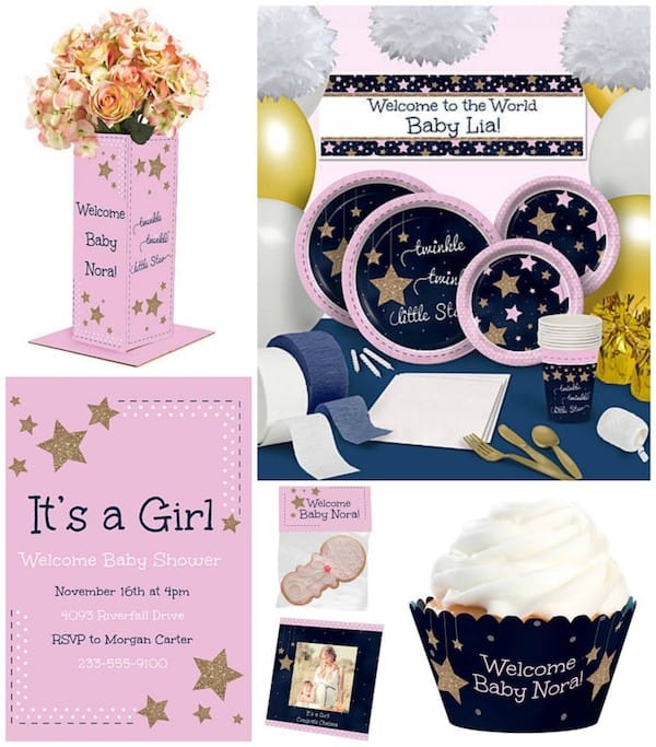 Light Pink Twinkle Twinkle Little Star Party Supplies