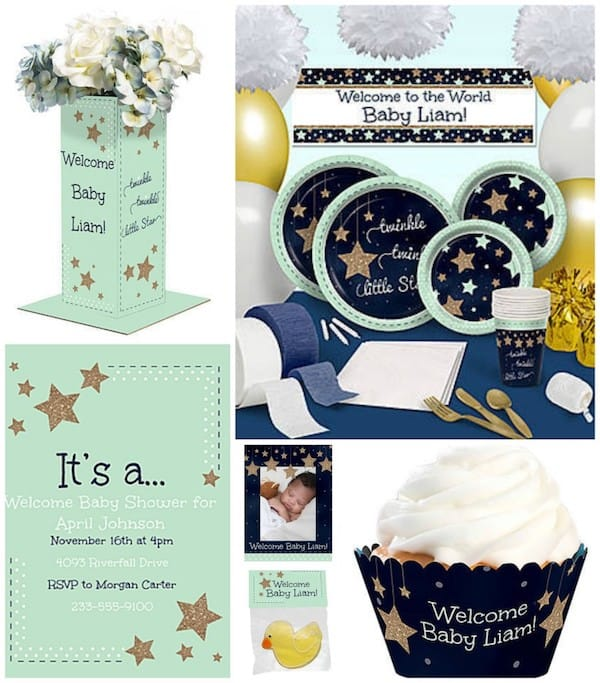 twinkle twinkle little star party theme planning, ideas  supplies, Baby shower invitation
