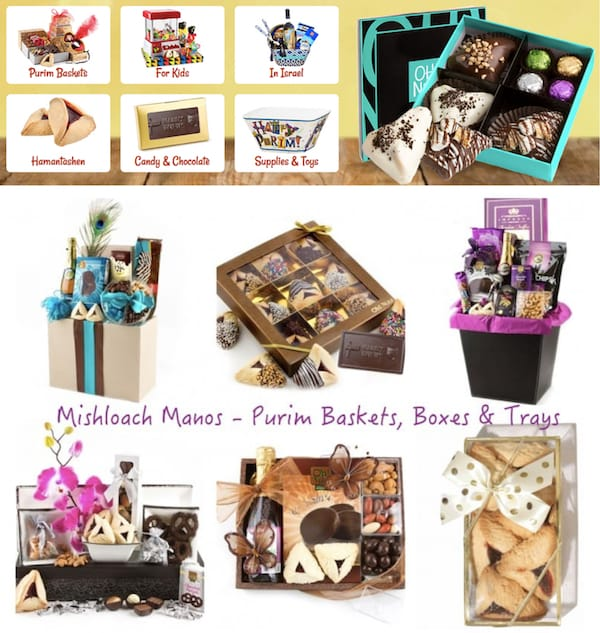 Mishloach Manos - Purim Baskets, Boxes & Trays