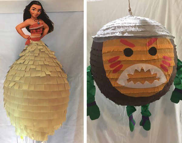 Moana Birthday Party Pinatas