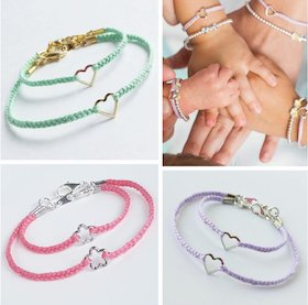 Mommy and Me Heart Bracelets