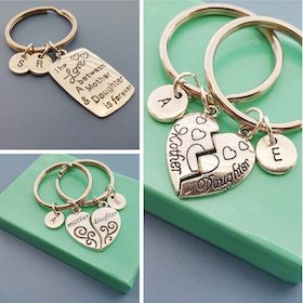 Mother Daughter Love Key Chains