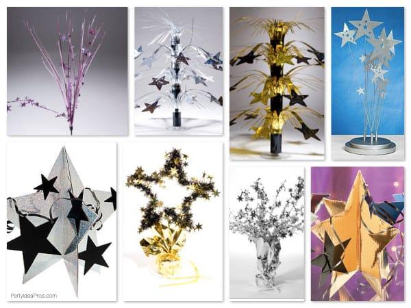 Mylar Stars Centerpieces