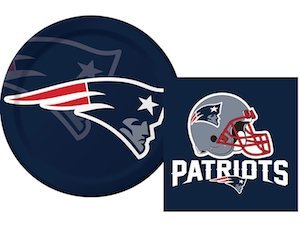 New England Patriots NFL Napkins & Plates Party Kit