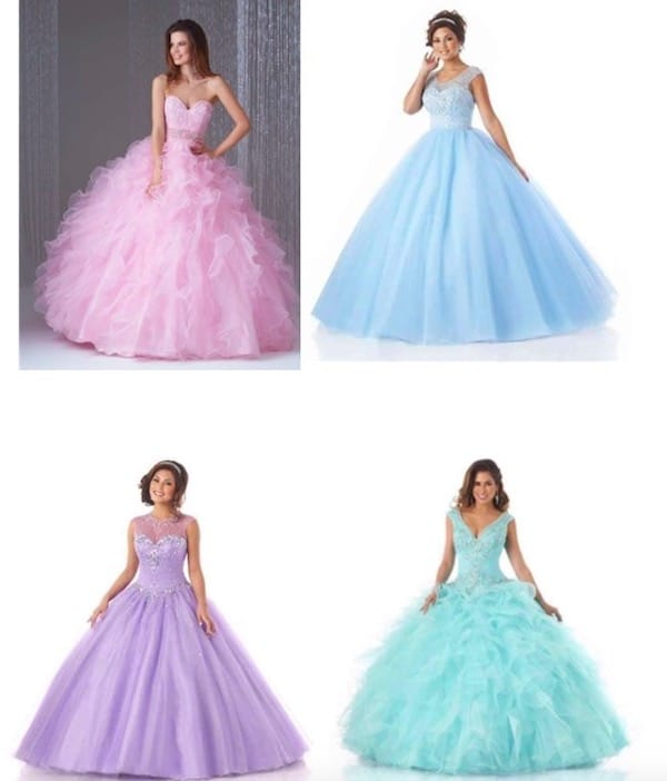 Pastel quinceanera ball gown dresses