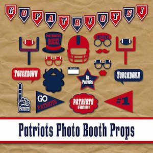 Patriots Photo Booth Props