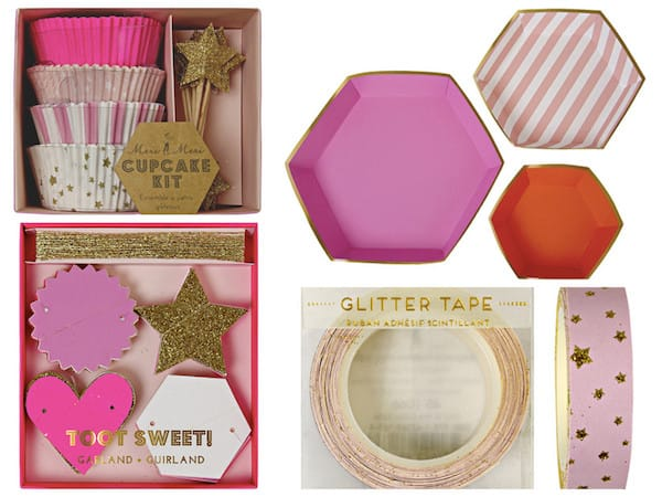 Pink & Gold Star Party Supplies