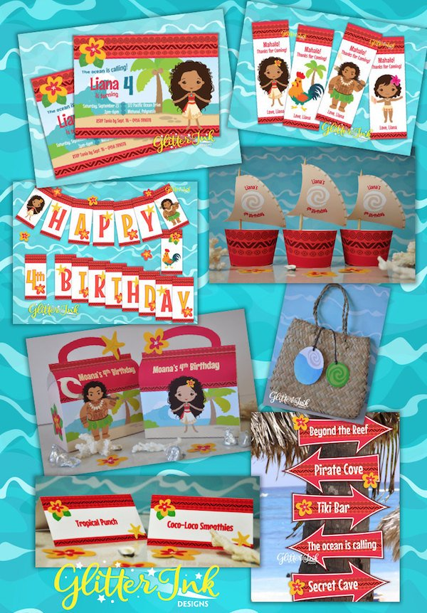 Printable DIY Moana Party Decorations