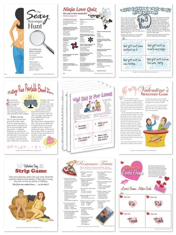 printable valentines day games - Valentines Day Game