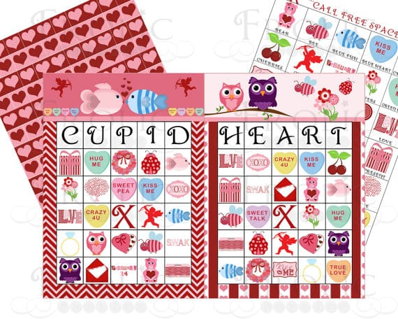 Printable Valentines Day Games