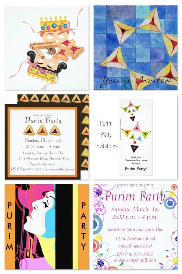 Purim Party Personalised Round Stickers Party Birthday Sweet Cones Haman Esther