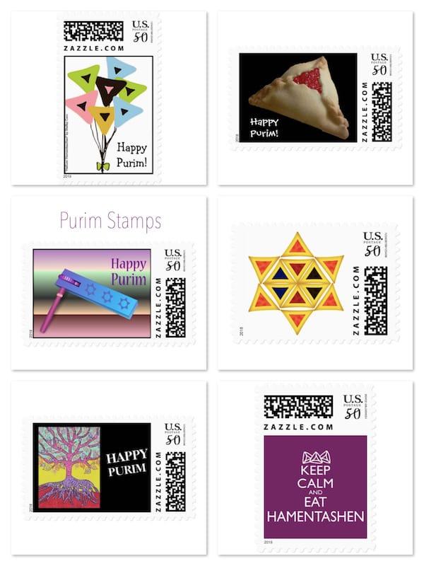 Purim Stamps