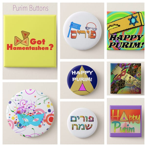 Purim Buttons