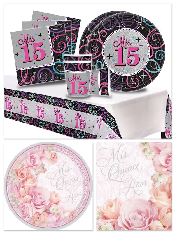 Quinceanera Party Supplies Paper Plates