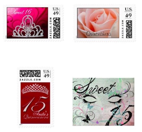 Quinceanera stamps