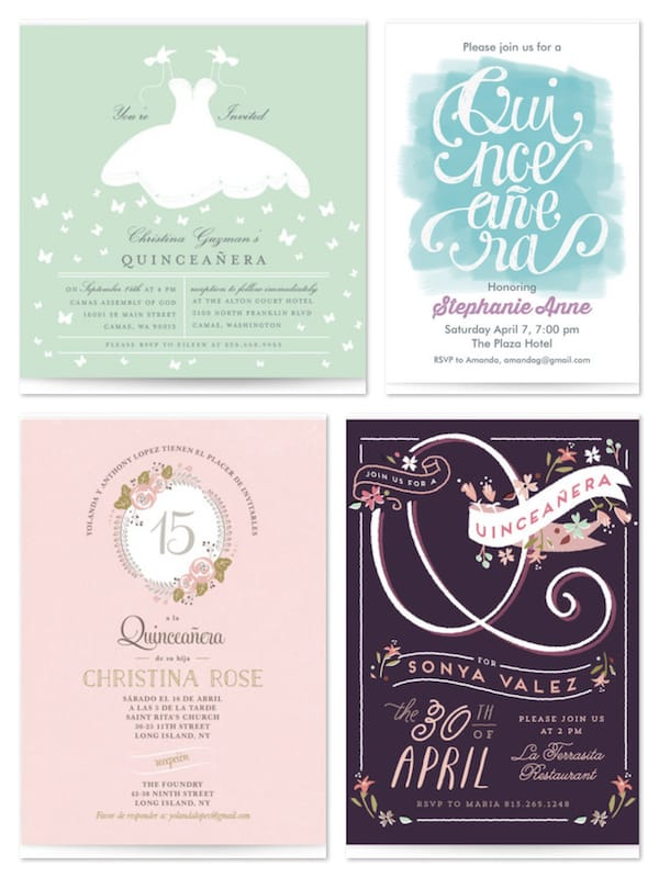 Quinceanera Invitations Sweet 15